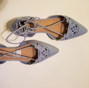Blue faux suede Cristian Siriano Shoes